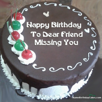 missing you birthday cake images for men
