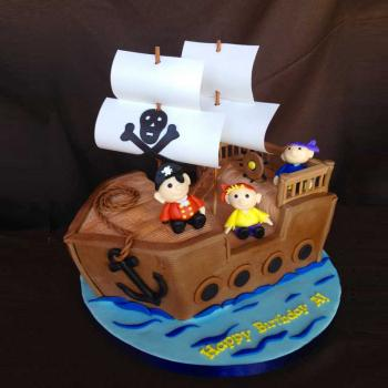 pirate ship cake images