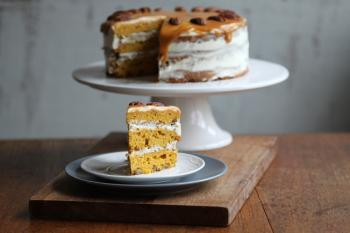 Pumpkin Pecan Layer Cake