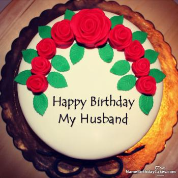 romantic birthday cake for husband