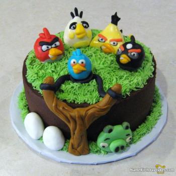son angry bird birthday cakes