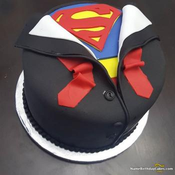 superman birthday cake pictures