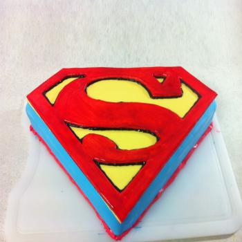 superman cake design