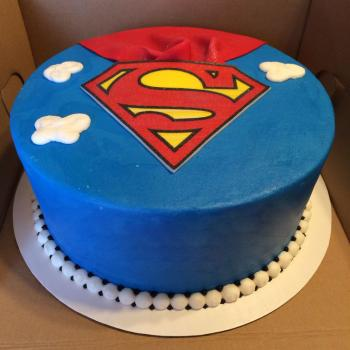 superman fondant cake images