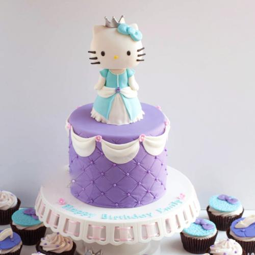 Admirable 3D Hello Kitty Cake Ideas Download Share Birthday Cards Printable Benkemecafe Filternl