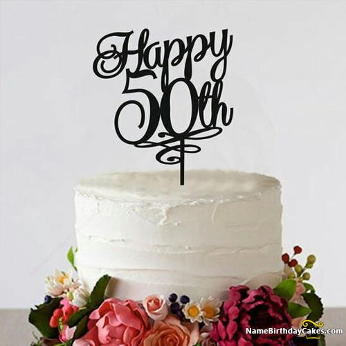 Terrific 50Th Bday Cakes Pictures Download Share Birthday Cards Printable Nowaargucafe Filternl