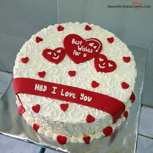Surprising Birthday Cake For Lover Download Share Personalised Birthday Cards Bromeletsinfo
