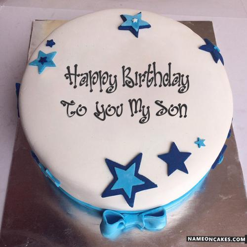 Birthday Cake With Name And Photo For Husband