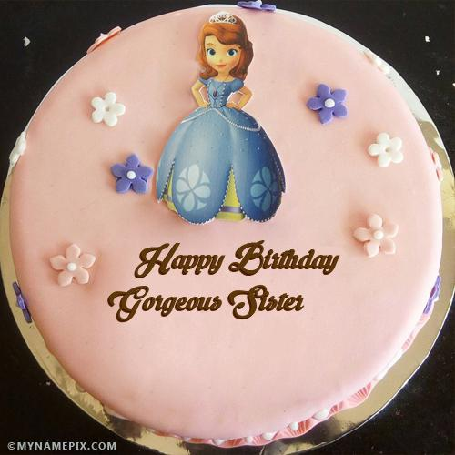 Astounding Birthday Cake For Sister Photos Download Share Personalised Birthday Cards Beptaeletsinfo