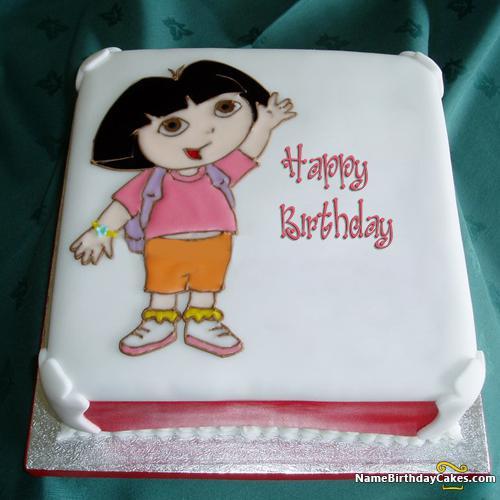 Sensational Dora Cake Childrens Birthday Download Share Birthday Cards Printable Benkemecafe Filternl
