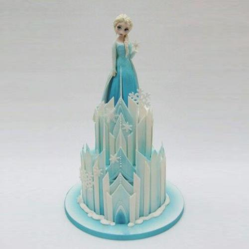 Marvelous Frozen Castle Cake Download Share Funny Birthday Cards Online Overcheapnameinfo