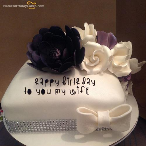 Outstanding Romantic Cake For Wife Birthday Download Share Funny Birthday Cards Online Overcheapnameinfo