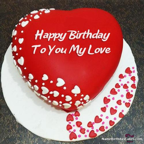 Magnificent Romantic Birthday Cake For Lover Express Your Love Personalised Birthday Cards Rectzonderlifede